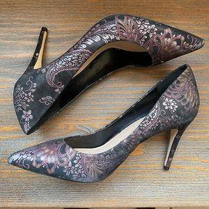 Aldo black floral pumps